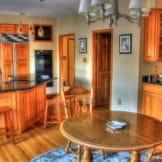 Holzfußboden in der Küche