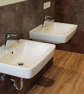 Vinyl-badezimmer-waschbecken