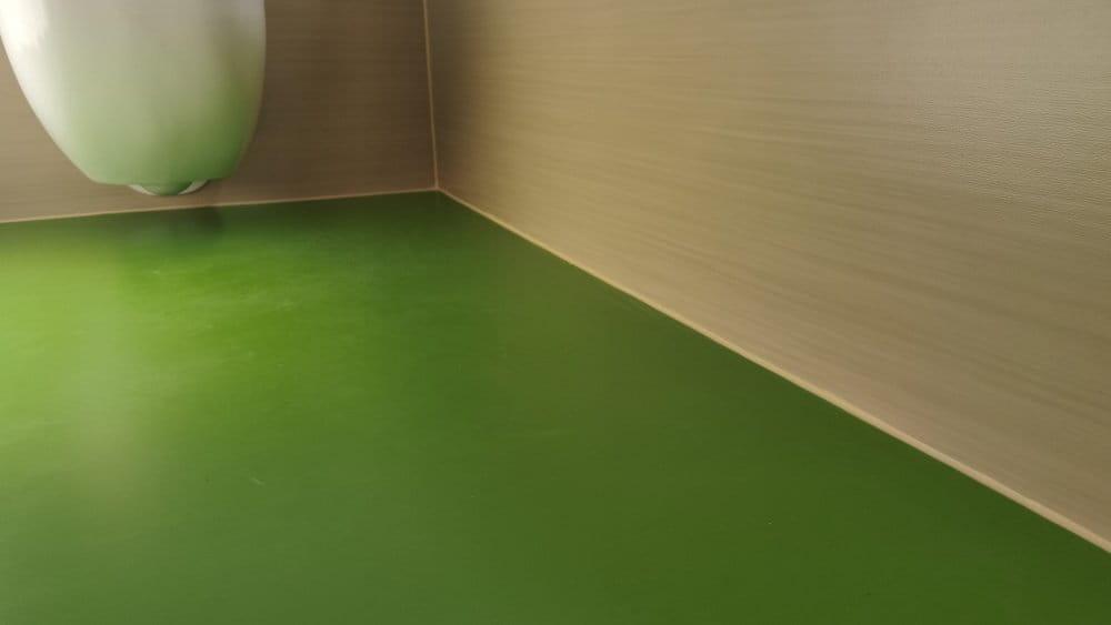 Linoleumbelag Fußboden und Wand