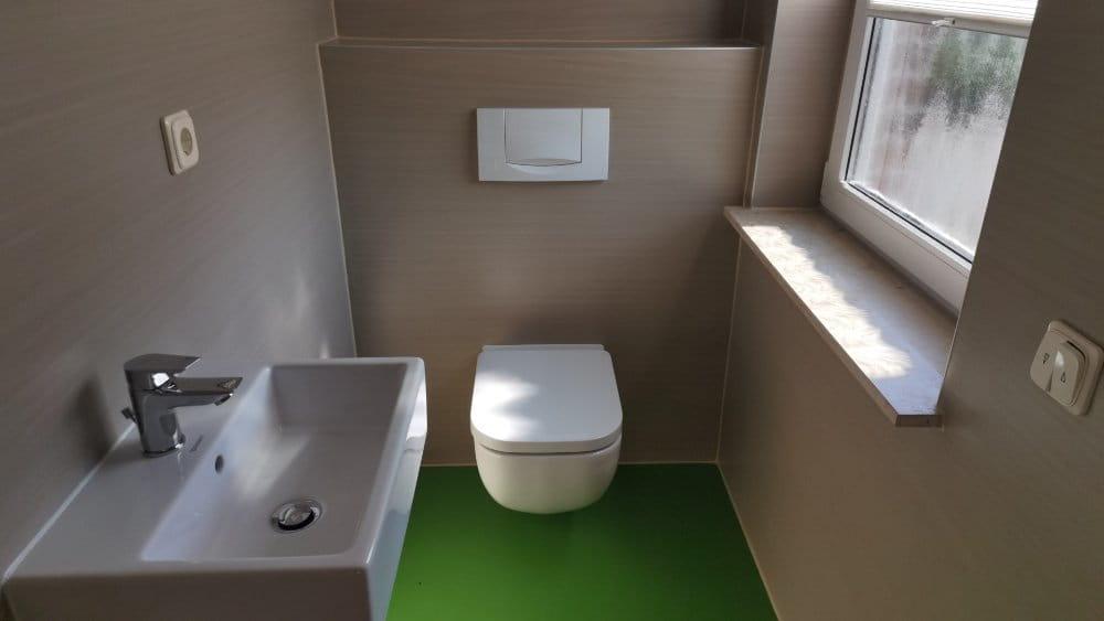 Linoleumbelag im Gäste WC