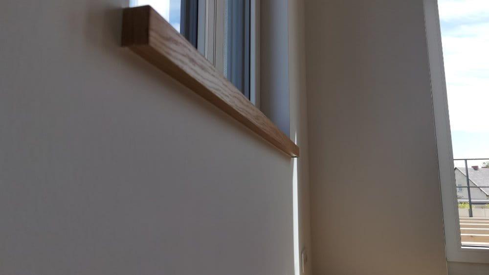 Fensterbank aus Parkett